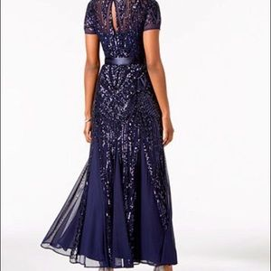 6fb066f115f R M Richards Dresses - R M Richards Sequin Embellished Pleated Gown
